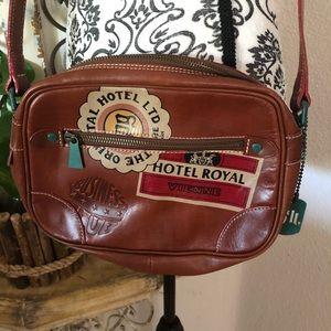 Jean Paul Gaultier brown leather crossbody